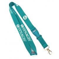 China Flat Polyester Card Holder Lanyard With Safety Break Buckle For Trade Show wholesale