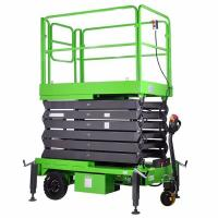 China 7.5 Meters Light Duty Hydraulic Mobile Scissor Lift with Motorized Device wholesale