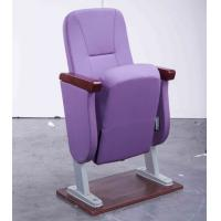 Buy cheap Embroidered Logo Accent Church Hall Chairs With Armrest Rubber Wood Material from wholesalers