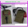 China khaki Passport hanging bags, passport bag, certificate hanging bags wholesale