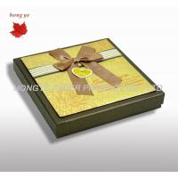 China Chocolate Packaging Boxes From 128G / 157G / 200G Rigid Art Paper on sale