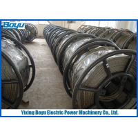 China Anti twist 18 Strands Breakage load 372kN Braided Steel Wire Rope for Overhead Transmission Line 22mm on sale