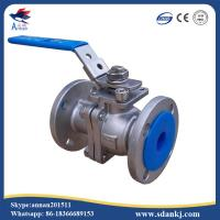 2 Pcs Flange connection type Stainless Steel Ball Valve for hot water WCB DN50