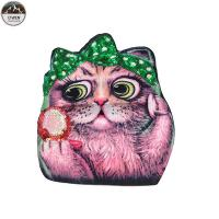 China Lovely Cat Custom Printed Patches , Sew On Style Screen Printed Patches wholesale