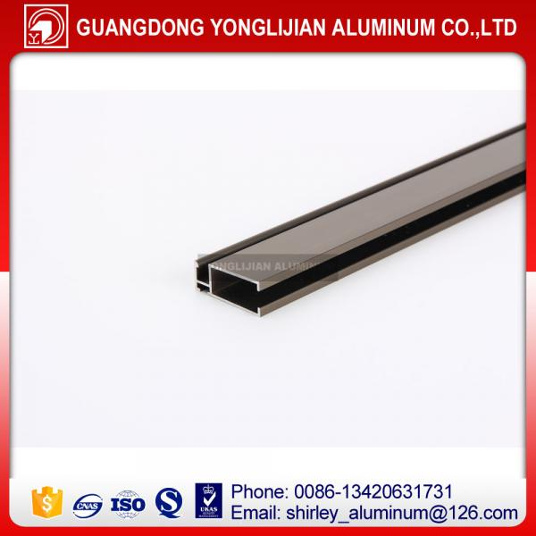 Quality Champagne anodized aluminum extrusion profile window door design for sale
