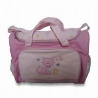 China Diaper Bag, Made of Polyester, Measuring 16 x 6.5 x 12.25 Inches wholesale