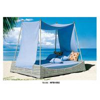 China Garden beach sun bed PE wicker plastic sun bed make you enjoy the sunshine wholesale