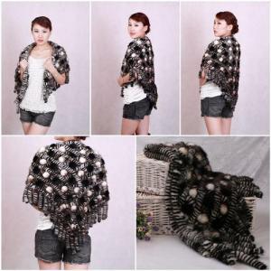 China Mink Fur Poncho Fur Cape Fur Scarves Mink Fur Scarf Mink Fur Wraps Fur Shawl Mink Knittde Poncho wholesale