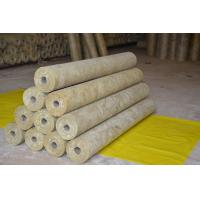 China Thermal Rockwool Pipe Insulation Light Weight Thickness 25mm - 100mm on sale