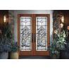 China Durability Sliding Glass Doors Theft Proof Decorative Panel Glass Brass / Nickel / Patina wholesale