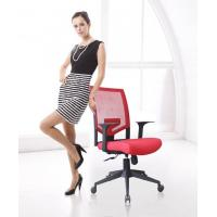 China New Black Frame Red Fabric Cushion Seat Executive Office Chair Mesh Chair Lumbar Support wholesale