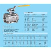 China 1PC/2PC/3PC full bore 1000PSI stainless steel ball valve on sale