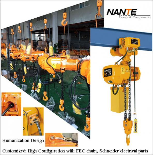 Quality Maintenance HHBB Electric Chain Hoist With Hook High Configuration for sale