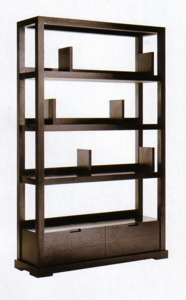 Quality Modern Hotel Lobby Furniture Solid Wood Commodity Shelf  Partition Wall Walnut  Veneer for sale