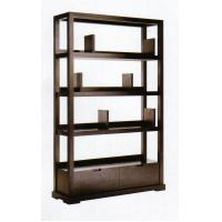 China Modern Hotel Lobby Furniture Solid Wood Commodity Shelf  Partition Wall Walnut  Veneer wholesale