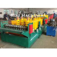 China Quick Change Size Ladder Type Cable Tray Forming Machine Punching Holes wholesale