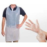 China Safety Disposable Medical Aprons , Disposable Kitchen Aprons 17 Mic Thickness on sale