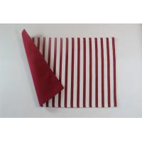 China 100% Cotton Stripe Canvas 250gsm One Side Printed Color One Side Solid Color Dining Table Mats wholesale