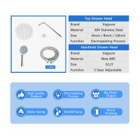 China 5 Functional Modes Rainfall Shower Head With Handheld Shower Hose Length 146cm wholesale