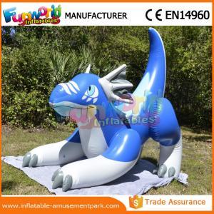 China Personnages de dessin animé gonflables bleus annonçant la forme gonflable de dragon de mer wholesale