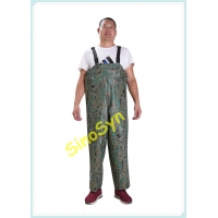 China FQY1908 Digital-Camouflage PVC Safty Chest/ Waist Protective Working Fishery Men Pants wholesale