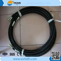 China SAE100 R6 High pressure hydraulic rubber hose/ hydraulic oil hose/ fuel hose with joint wholesale