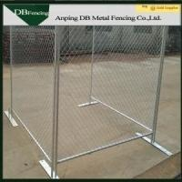 Buy cheap Temporary Galvanized Chain Link Fence / Construction Barrier Fence Free Standing from wholesalers