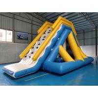 Buy cheap 0.9mm PVC Tarpaulin Giant Inflatable Floating Water Slide With TUV Certificate from wholesalers
