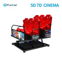 China High Resolution 7d Cinema Simulator With 4.6.9.12 peoples  Gun Shooting And 7d Movies wholesale