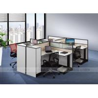Buy cheap Factory direct simple design customized 4 people office furniture modular desk ,white color from wholesalers