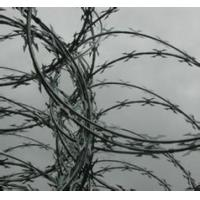 China Concertina Barbed Wire with single high tensile steel line wire on sale