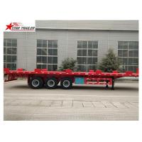 China 24/32/48/53/50 Foot Semi Truck Flatbed Trailer With Leaf Spring Suspension wholesale