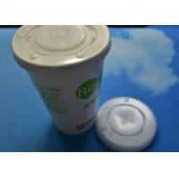 China Compostable Ripple Wall 16oz / 20oz Disposable Hot Coffee Cup Lid Cover on sale