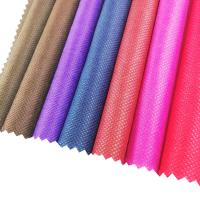 China 70-110GSM eco material colorful carry bag non woven fabrics cheap pp nonwoven fabric wholesale