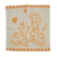 Small Hand Jacquard Towel in Size 32*32cm, 40g (JT-010)
