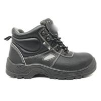 China Heat Sealed PVC Safety Boots Collar Foam Stylish Steel Toe Boots For Plumber wholesale