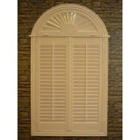 China indoor 100% basswood arch shutters for windows without control bar wholesale