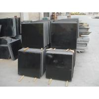 China high end narutal absolute black granite , vanity tops granite for kitchen on sale