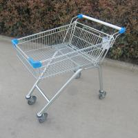 China Zinc Plated Metal Store Supermarket Shopping Trolley Grocery Push Cart wholesale