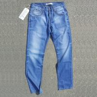 China young men's fashion jeans with special embroidery stitching detail,metal tack button on sale