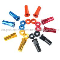 China CNC Billet MX Bling Kit Wheel Lock Nuts And Wheel Spacers For MX Dirt Bike on sale