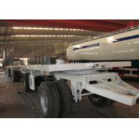 China 20 ft Double Drawbar Semi Trailer , Shipping Container Flatbed Trailer on sale