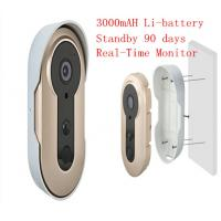 China 3.6mm Lens WIFI Video Doorbell Real Time Remote Smart Doorphone Build In Battery wholesale