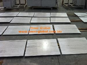 Quality Polished White Wood Vein Marble Stone Tile/ Wall Tile/ Floor Tile for sale