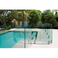 China AS2208 Standard Swimming Pool Glass Fencing , Glass Panel Garden Fencing Safety wholesale