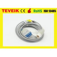 IEC round 12pin 5 leads ECG cable with snap for Mindray Patient monitor