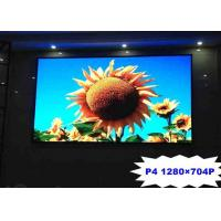 Quality High Resolution P4 Indoor Full Color LED Screen Iron / Steel For Advertising for sale