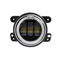China 4 inch 30 W 2400LM Car LED Fog Lights With Halo Ring DRL for jeep wrangler JK wholesale