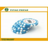 China Light Blue Clay Crown Poker Chips Casino Standard Game Poker Chips wholesale
