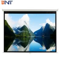 Buy cheap White Manual Projection Projector Screen 100 Inch With Metal Handle For Confence from wholesalers